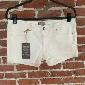 NWT Paige white jean shorts stretch 30